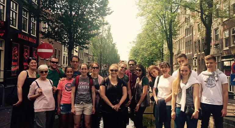Free walking tour group with local tour guide in Amsterdam​