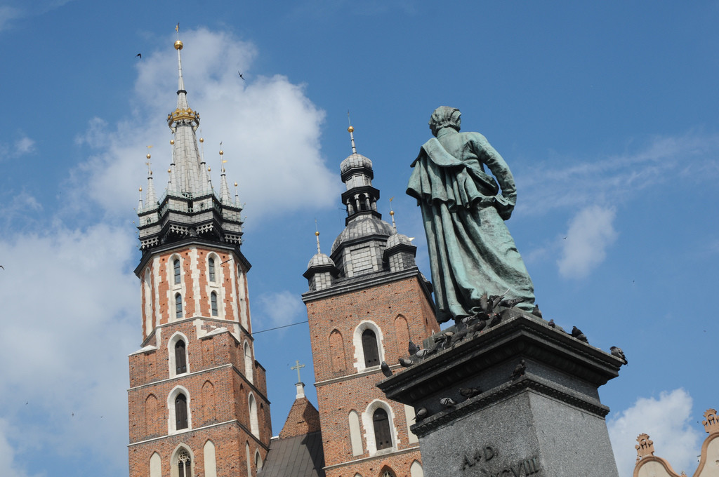 Statue in the Old Town in Krakow, Poland, as seen on free walking tours.