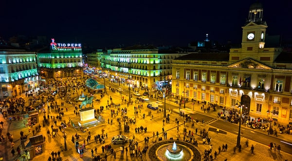 Puerta del Sol, the main tourist attraction in Madrid