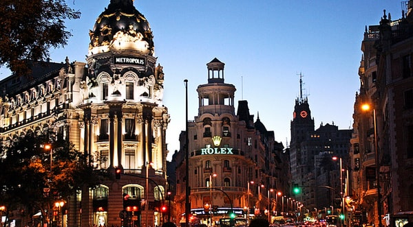 Night view of Madrid