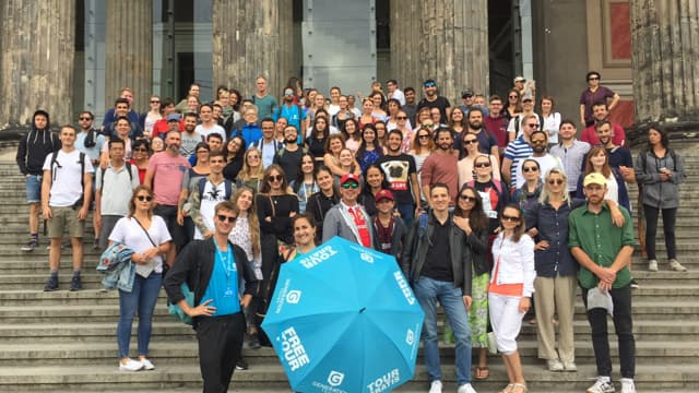 Tour groups at our Free Berlin tour meeting point