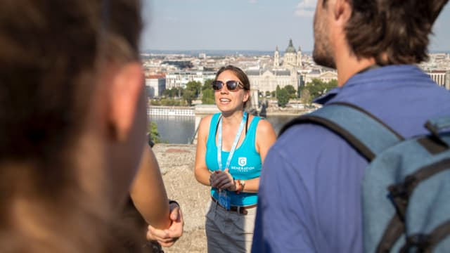 Marvellous views from the Buda Castle on our Free tour of Budapest