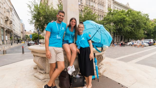 Three of our wonderful, expert local Budapest tour guides