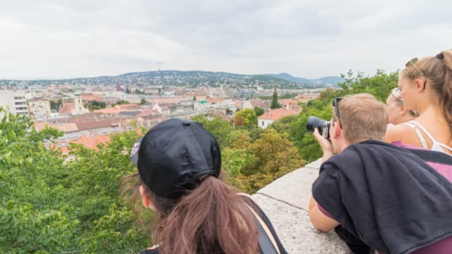 Panorama of Budapest during our free walking tour