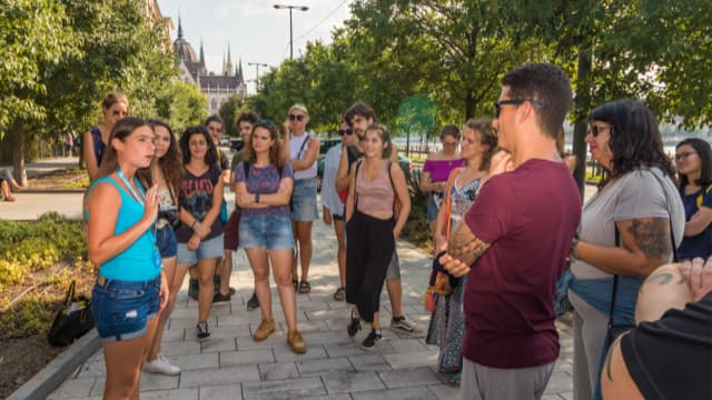 Free Red Budapest Tour group get an insight to years of communist rule in Hungary